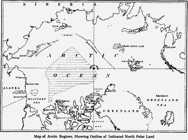 Harris 1904 Hypothesized Land