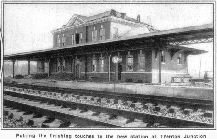 1930 new station at Trenton Junction